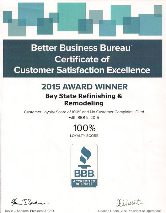 2015 AWARD WINNER Bay State Refinishing & Remodeling