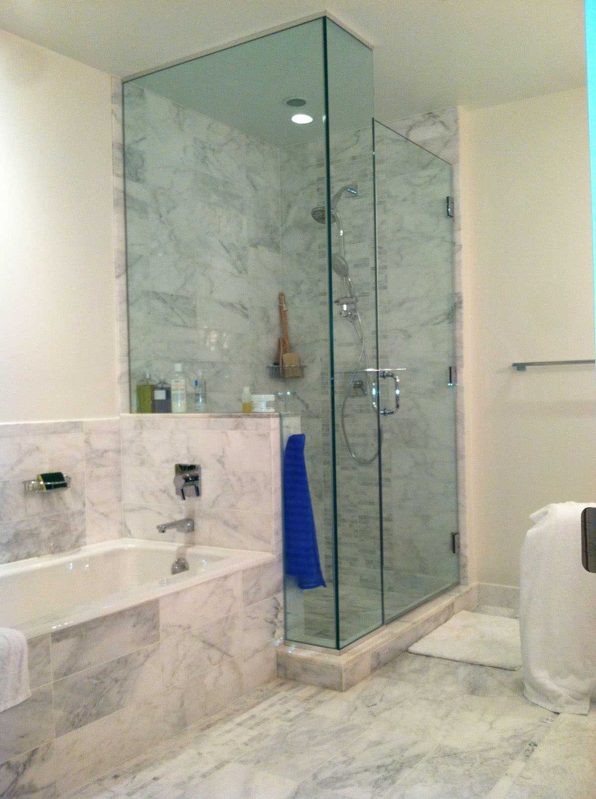 Bathroom Remodeling Boston boston marble bathroom remodel - bay state refinishing & remodeling