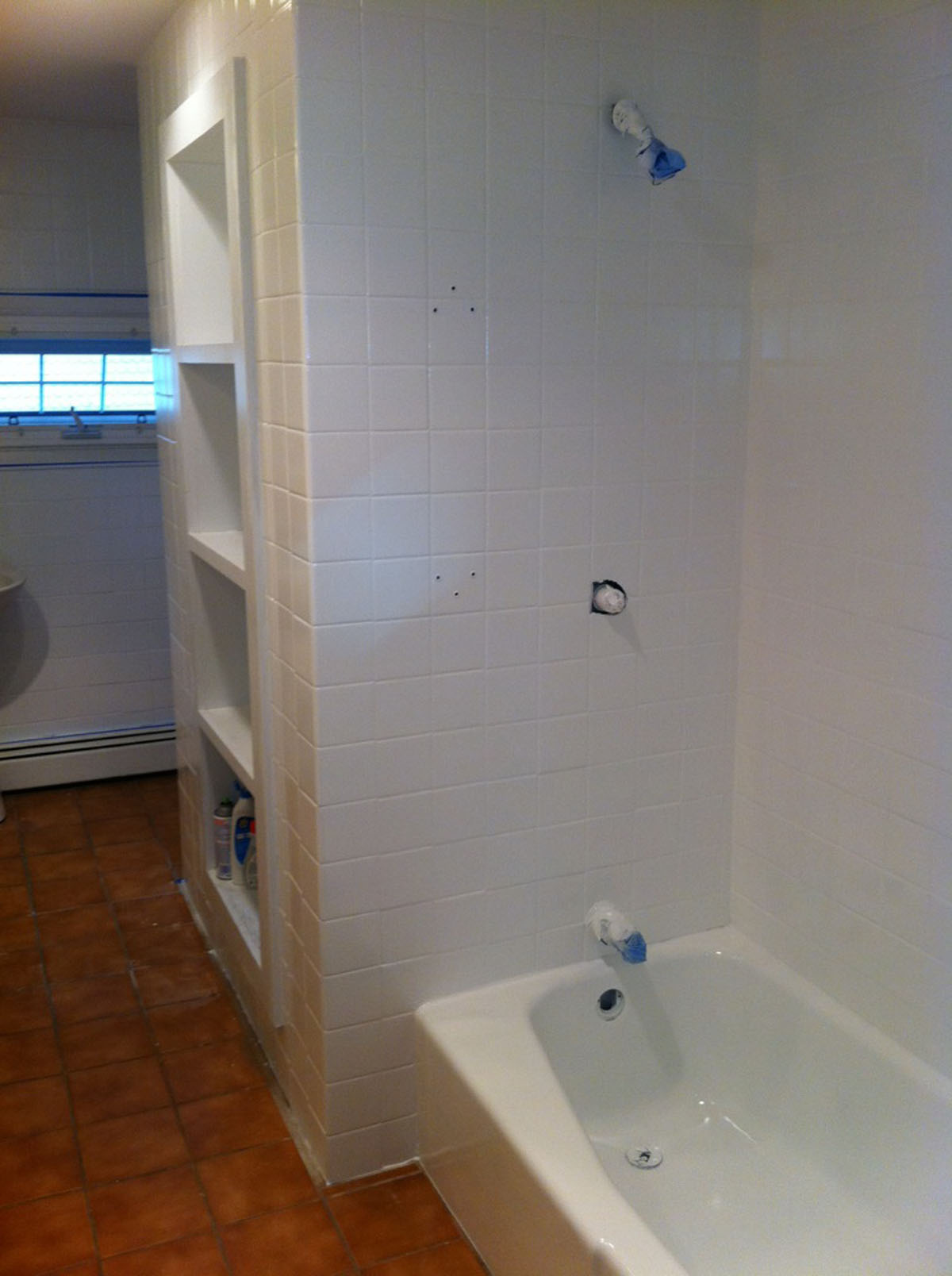 complete bathroom wall tile refinishing tub reglzaing