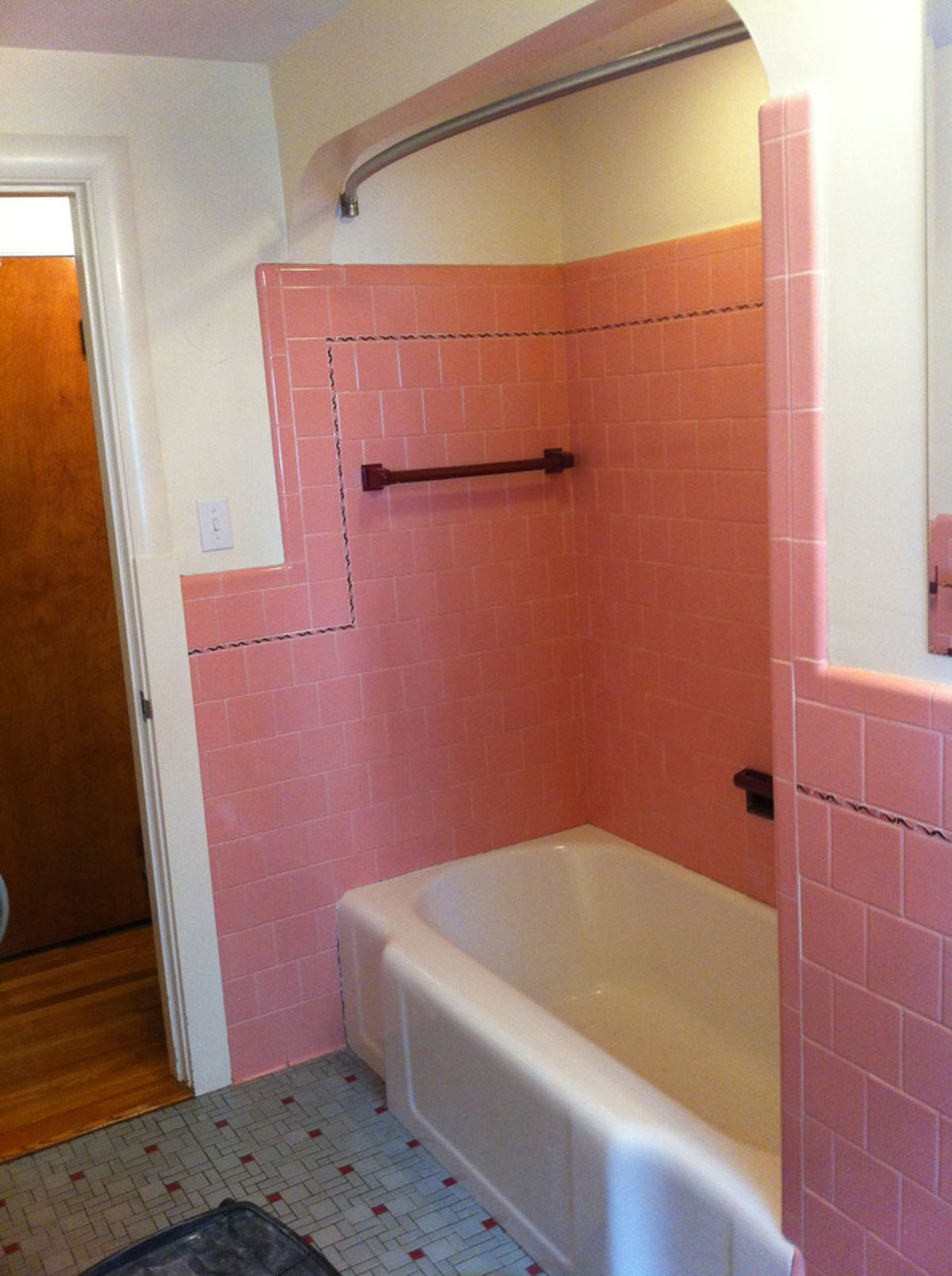 reglaze bathroom tile. Pink Tub Surround Before Reglazing Reglaze Bathroom Tile