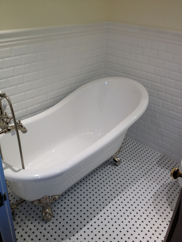 Beacon St. Boston after installation of new clawfoot bathtub