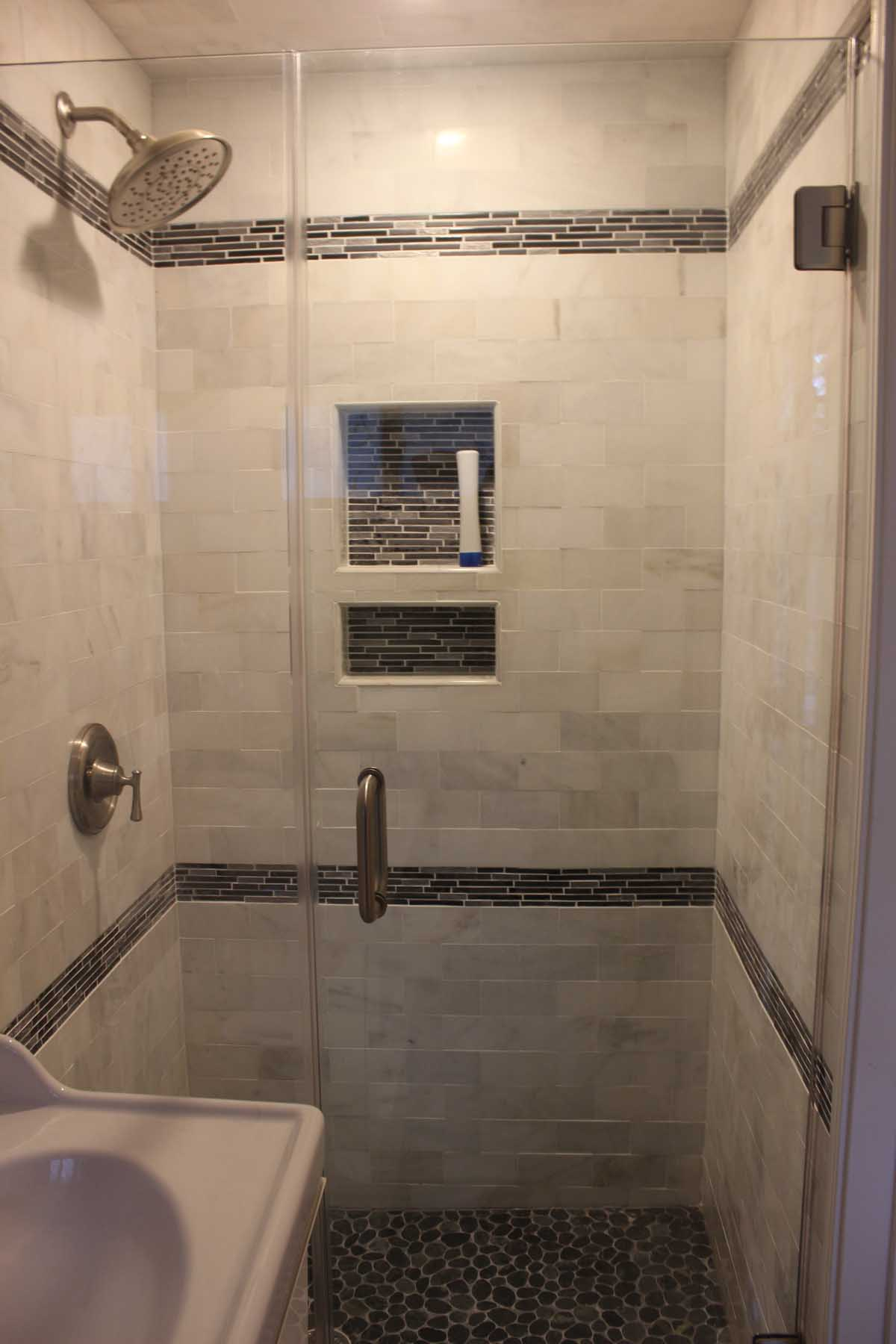 Nort St Newton   Large Shower In Expanded Half Bathroom Bathroom Remodeling,  Boston Company