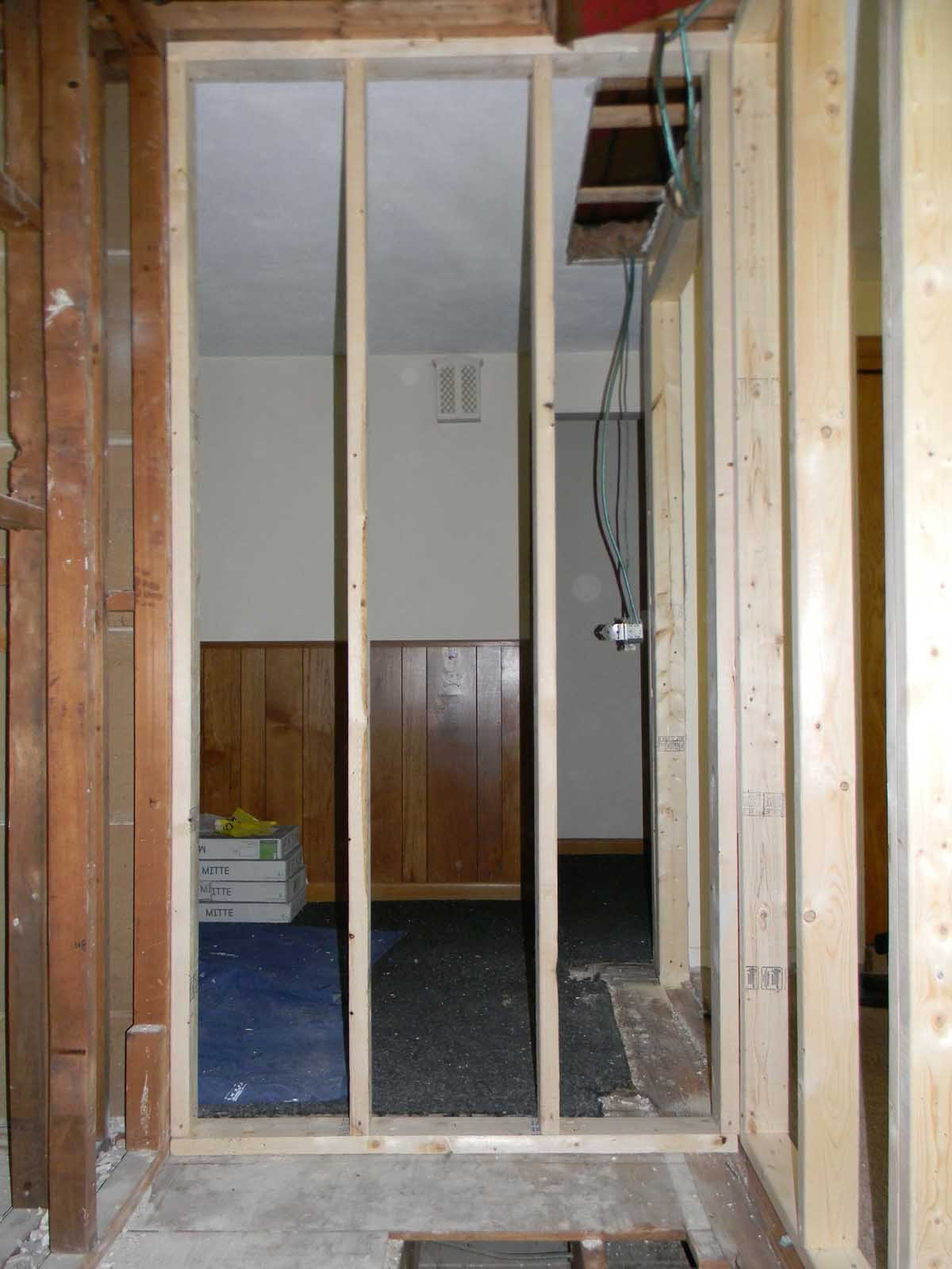 North St Newton - Reframing half bathroom and expanding footprint