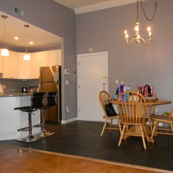 Refinished Eat-in Kitchen with Built-in Marble Tabletop - Broadlawn Park, West Roxbury