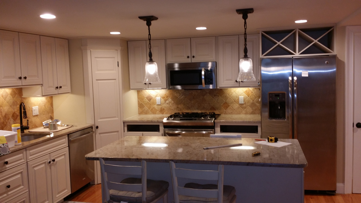 Basement Kitchen Cambridge Kitchen Remodel Bay State Refinishing