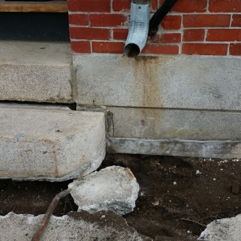 Source of foundation water entry before repair