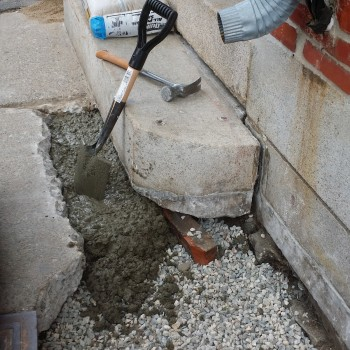 Addressing source of water from downspout