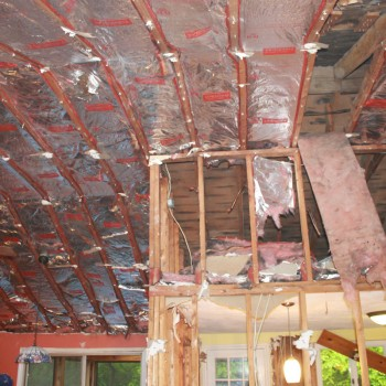 Cathedral ceiling framing and insulation detail