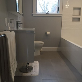Wellesley Bathroom Remodel - Bay State Refinishing & Remodeling