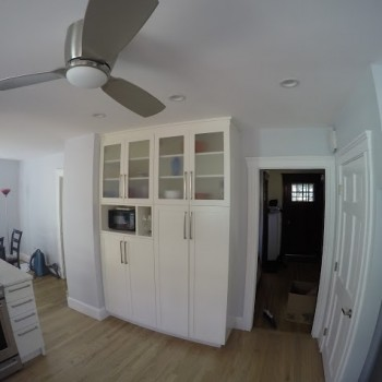 Cabinets in the remodeled Brookline kitchen