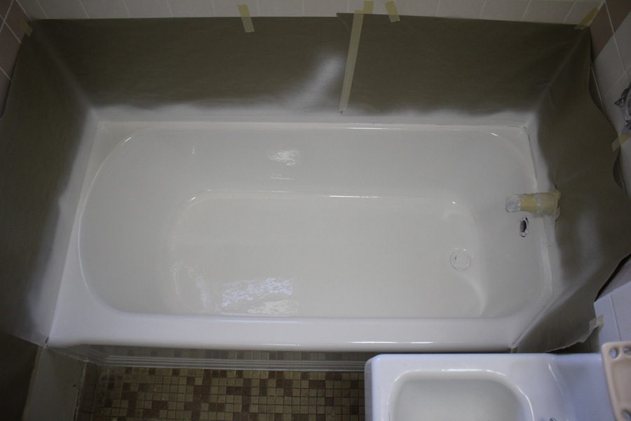 Commercial bathtub refinishing at Boston Housing Authority
