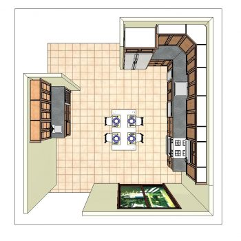 Kitchen Remodel - Plan Rendering - Top View