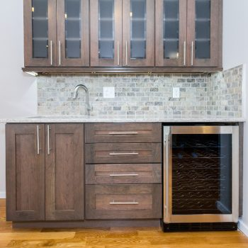 Kitchen Remodel - After - Wet Bar with a Built-In Wine Cooler