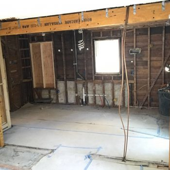 During Open Concept Kitchen Remodel - Bay State Refinishing & Remodeling