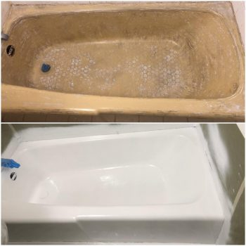 Belmont Housing Authority - Tub Refinishing - Before and After
