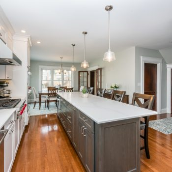 5- Center Island - Kitchen Remodel - Grasmere St - Bay State Refinishing